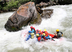Whitewater rafting on Gallatin River
